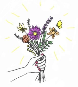 花束を贈る